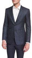 Burberry Millbank Textured Wool-Blend Sport Coat, Navy
