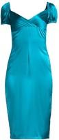 Alexis Cadiz Satin Silk Sheath Dress