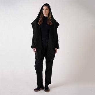 Kate Sheridan Black And Black Batwing Coat - Slimcut - Black