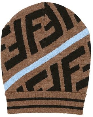 Fendi Kids FF wool-blend beanie