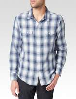 Paige Hunter Shirt - White/Black/Ink Riviera Plaid