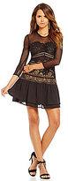 Gianni Bini Sloan Lace & Mesh Dress