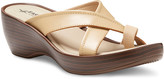 Eastland Women's Sandals BEIGE - Beige Willow Leather Heeled Sandal - Women