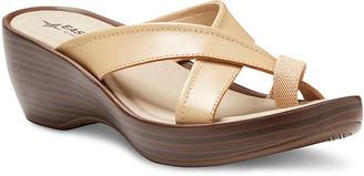 Eastland Women's Sandals BEIGE - Beige Willow Leather Heeled Sandal - Women