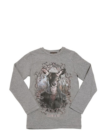 Roberto Cavalli Printed Stretch Cotton Jersey T-Shirt