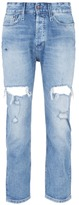Denham Cropped ripped jeans