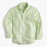 J.Crew Kids' Secret Wash shirt in check