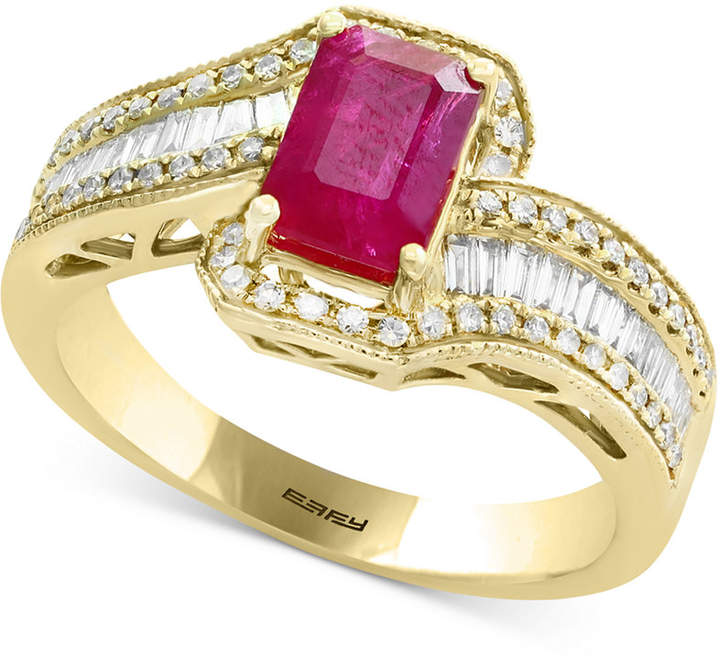 Effy Amore by Certified Ruby (1 ct. t.w.) & Diamond (1/2 ct. t.w.) Ring in 14k Gold