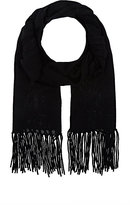 Barneys New York WOMEN'S WOOL-CASHMERE FRINGED SCARF