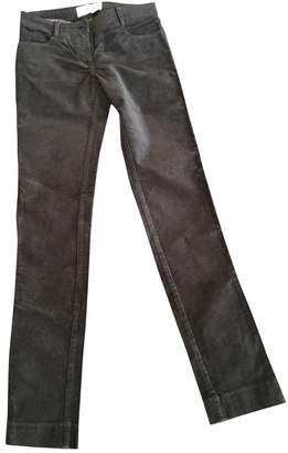 Sessun Brown Velvet Trousers for Women