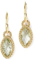 Bloomingdale's Beaded Marquise Green Amethyst Drop Earrings in 14K Yellow Gold