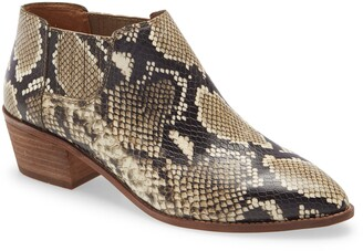 Madewell Sonia Low Leather Snakeskin Printed Chelsea Boot