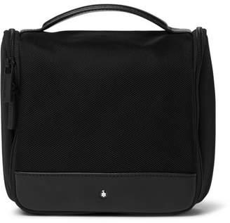 Montblanc Nightflight Leather-Trimmed Canvas Wash Bag