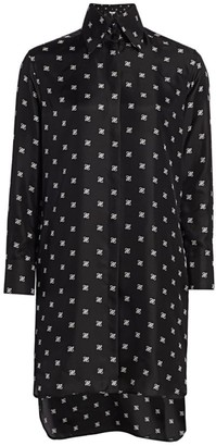 Fendi Karligraphy Silk Shirtdress