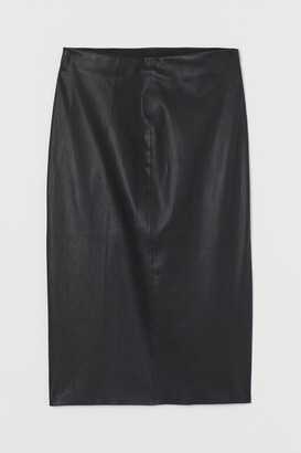 H&M Leather pencil skirt