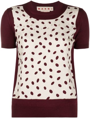 Marni Oval-Print Knitted Top