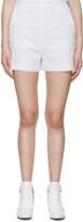 MSGM White Logo Terrycloth Shorts