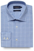 Osborne Big And Tall Blue Checked Print Tailored Fit Shirt