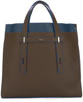 Furla contrast detail structured tote - men - Leather - One Size
