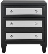Everly Leandro 3 Drawer Accent Chest Quinn Color: Black