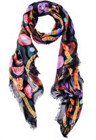 Matthew Williamson We Liming Modal Cashmere Black Scarf