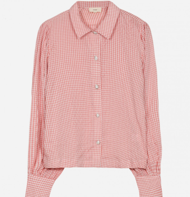 Thumbnail for your product : Margaux Peach Gingham Shirt - 8