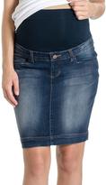 Dark Blue Denim Maternity Skirt