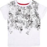 River Island Mini boys white skull print t-shirt