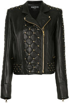 Balmain studded biker jacket