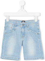 Karl Lagerfeld stonewashed denim shorts - kids - Cotton/Polyester/Spandex/Elastane - 2 yrs