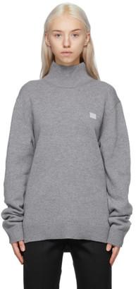Acne Studios Grey Wool Patch Turtleneck