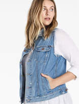 Lucky Brand Plus Tomboy Trucker Vest