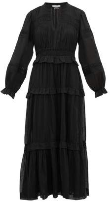 Etoile Isabel Marant Likoya Pintucked Cotton-voile Dress - Womens - Black