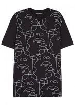 Neil Barrett Black Printed Cotton T-shirt