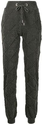 Philipp Plein high shine jogging trousers