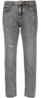 Philipp Plein Boyfriend Washed mid-rise jeans
