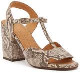 Alberto Fermani Birthe Snake Embossed Block Heel Sandal