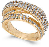 INC International Concepts Gold-Tone Pavé Swirl Multi-Row Ring, Created for Macy's