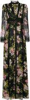 Giambattista Valli floral print semi-sheer gown