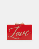 Ted Baker Love glitter clutch bag