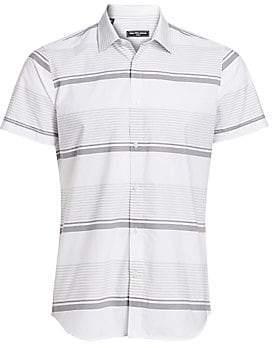 Saks Fifth Avenue Men's MODERN Horizontal Stripe Short-Sleeve Shirt