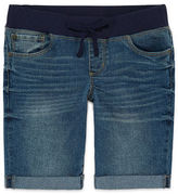 Arizona Denim Bermuda Shorts - Girls 7-16 and Plus