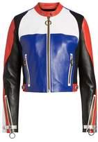 Tommy Jeans x Gigi Hadid Colorblock Leather Moto Jacket