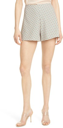 Alice + Olivia Athena Clean Waist Wide Leg Shorts