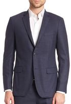 Theory Slim-Fit Micro Grid Sportcoat