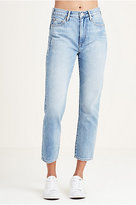 True Religion Kori High Rise Boyfriend Womens Jean