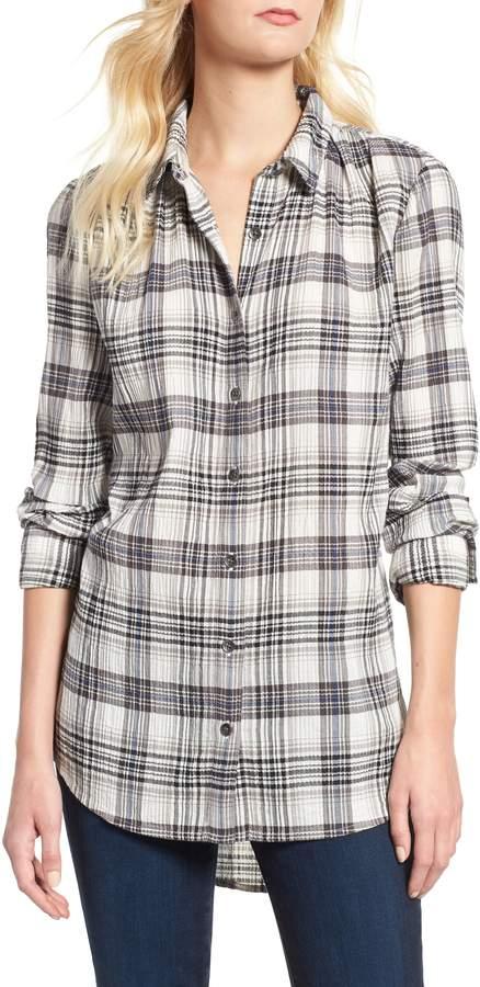 Caslon Plaid Tunic Shirt
