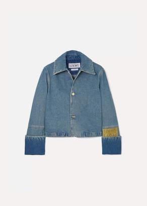 Loewe Cropped Denim Jacket - Indigo