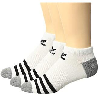 adidas Kids Kids Originals Roller No Show Sock 3-Pack (Little Kid/Big Kid) (White/Black |White/Black/White/Black) Kids Shoes