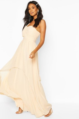 boohoo Bridesmaid Occasion One Shoulder Detail Maxi Dress